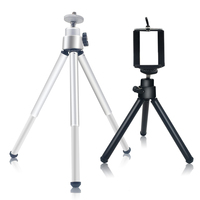 HEONYIRRY Mini Tripod Aluminum Metal Lightweight Tripod Stand Mount For Phone With Phone Clip Tripod for iPhone 6 7 6s 5s Dslr