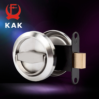 KAK Stainless Steel 304 Recessed Invisible Cup Handle Privacy Hidden Door Locks Cabinet Pulls Handle Fire