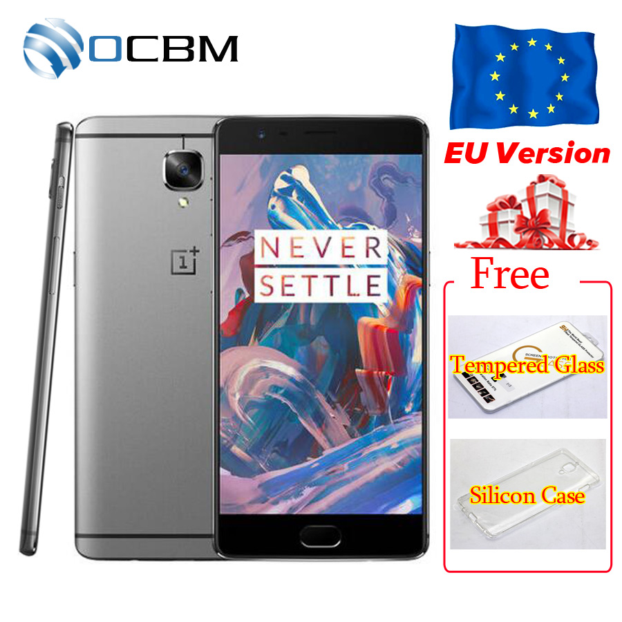 """Original Oneplus 3 A3000 Oneplus 3T A3010 6GB RAM 64GB ROM Snapdragon 820 821 Quad Core 5.5"""" Android6.0 Mobile Phone Fingerprint"""