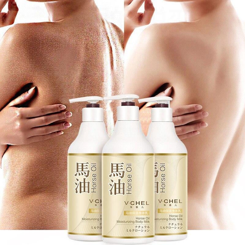 Whitening Cream Horse Oil Body Lotion Milk For Women Care Skin Repair Bleaching Moisturizing Hydrating Anti-Wrinkle Anti Dry P