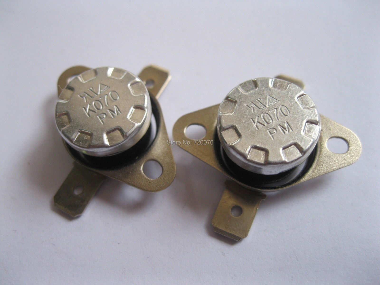 цена на 50 pcs Temperature Switch Thermostat 70 Degree N.O. KSD301 Normal Open
