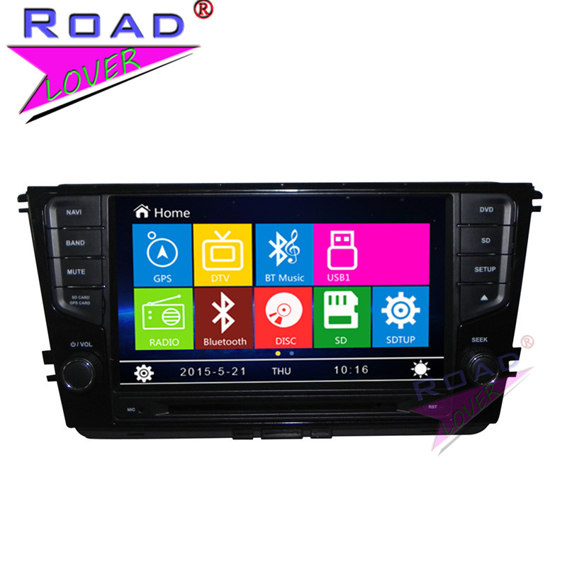 TOPNAVI Wince 6.0 Double Din 8Inch Car Media Center DVD Player Auto Radio For VW Lamando Stereo GPS Navigation TFT Touch MP3 BT