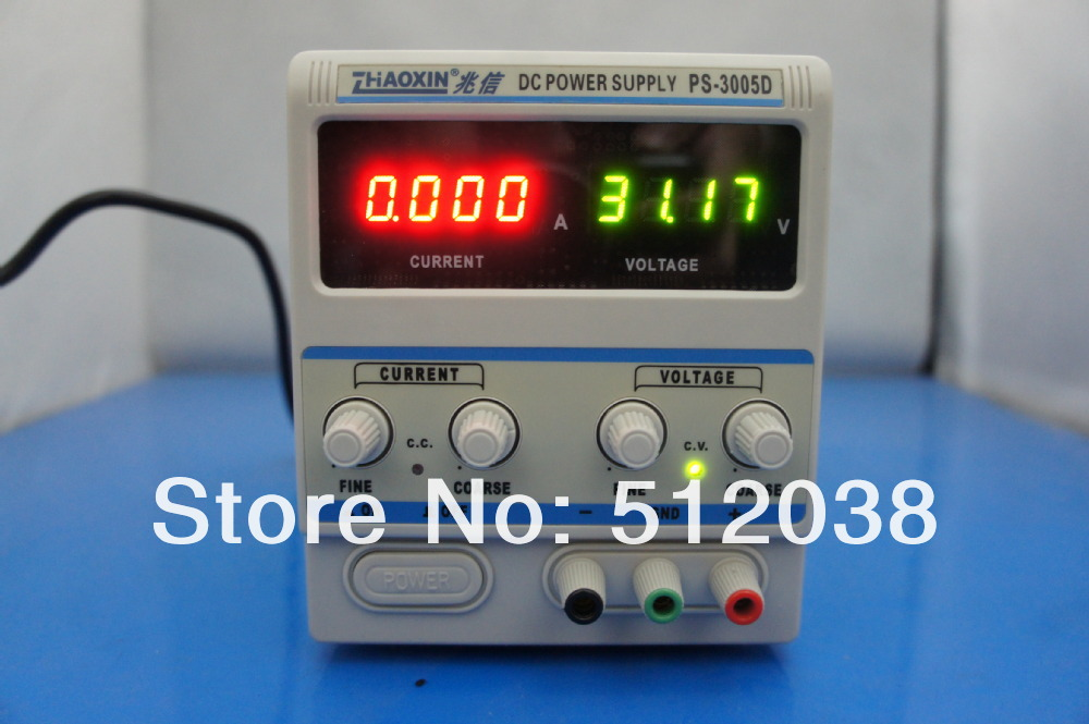 ZhaoXin PS-3005D Variable 30V 5A DC Power Supply Lab Grade 1mA