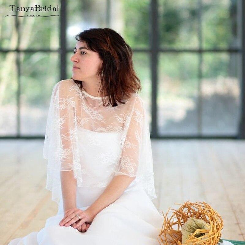 Lace Bolero 2019 Short Wedding Wrap Elegant Shawl Cape Wedding Accessories Custom  DJ031