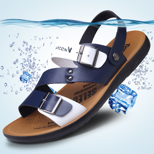 new Summer beach shoes men sandals 2019 trend casual comfortable non-slip Dual use shoes for men sandals slippers calzado hombre