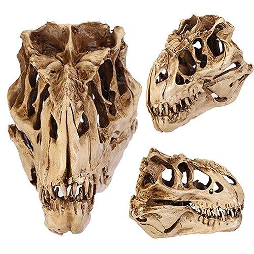 Resina Artigianato Insegnamento Dente Cranio Fossile di Dinosauro Modello di Scheletro di Halloween Home Office Decorazione di Halloween