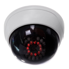 MOOL Indoor CCTV Fake Dummy Dome Security Camera with IR LEDs White