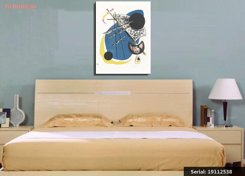 2019 Nieuwe Stijl Wassily Kandinsky Stilleven Abstracte Olieverf Tekening Art Spuiten Unframed Canvas Realistische Waterdichte Keuken Wall19112538 Kwaliteit En Kwantiteit Verzekerd