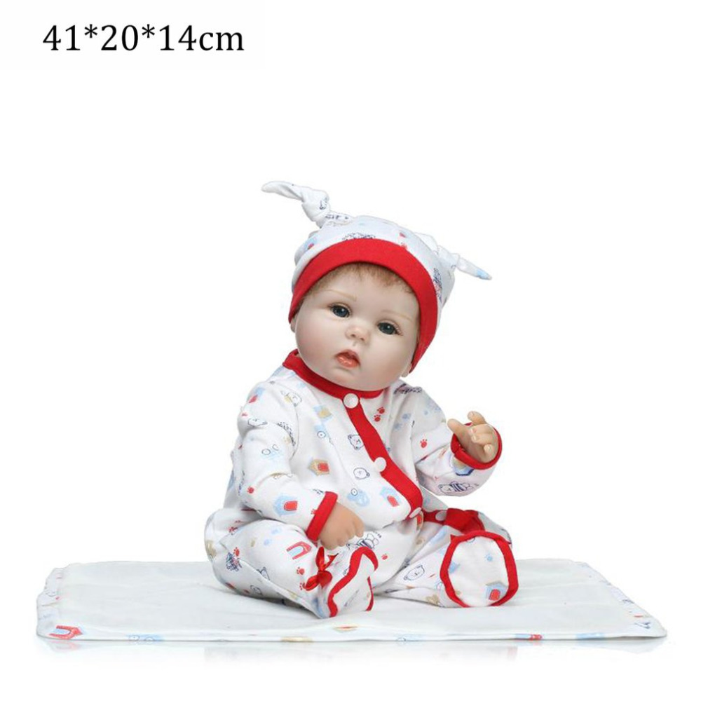 NPK Doll 16 inch Silicone Reborn Baby Doll Kids Playmate Gift For Girls Baby Alive Soft Toy For Bouquets Doll Babies Reborn Doll adora toddler doll soft silicone reborn baby doll cute 20 inch 52cm baby reborn for kids birthday giftbaby reborn