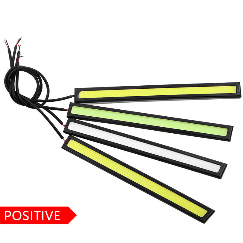 1Pcs 17CM LED COB DRL Daytime Running Lights Waterproof External Car Styling Car Parking Fog Bar Turn Signal Lamps Accessories