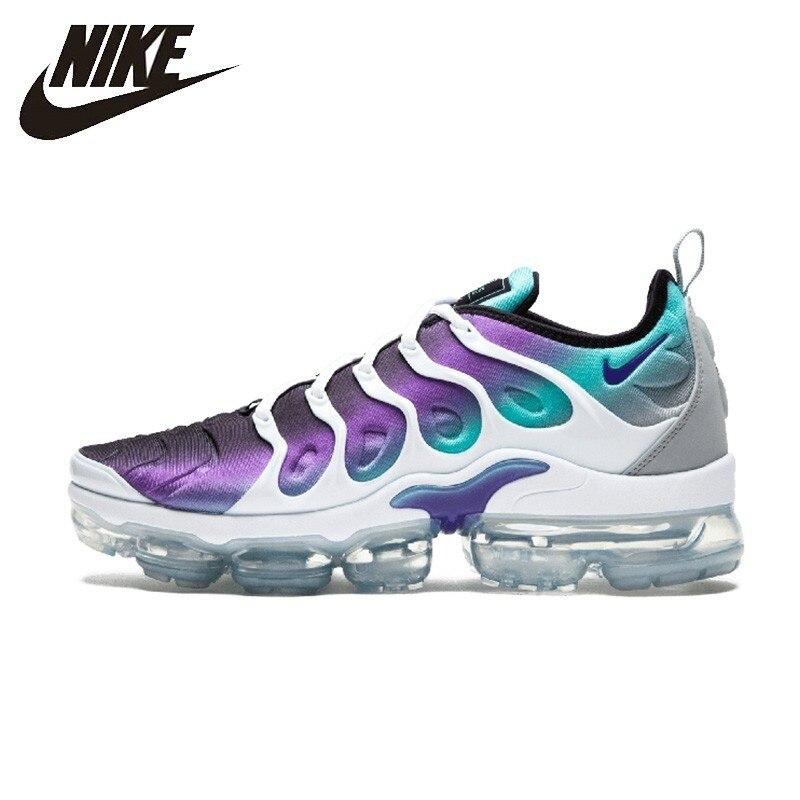 Nike Air Vapormax Plus Homem Running Shoes Respirável Almofada De Ar Anti-slip Esportes Tênis 924453-101