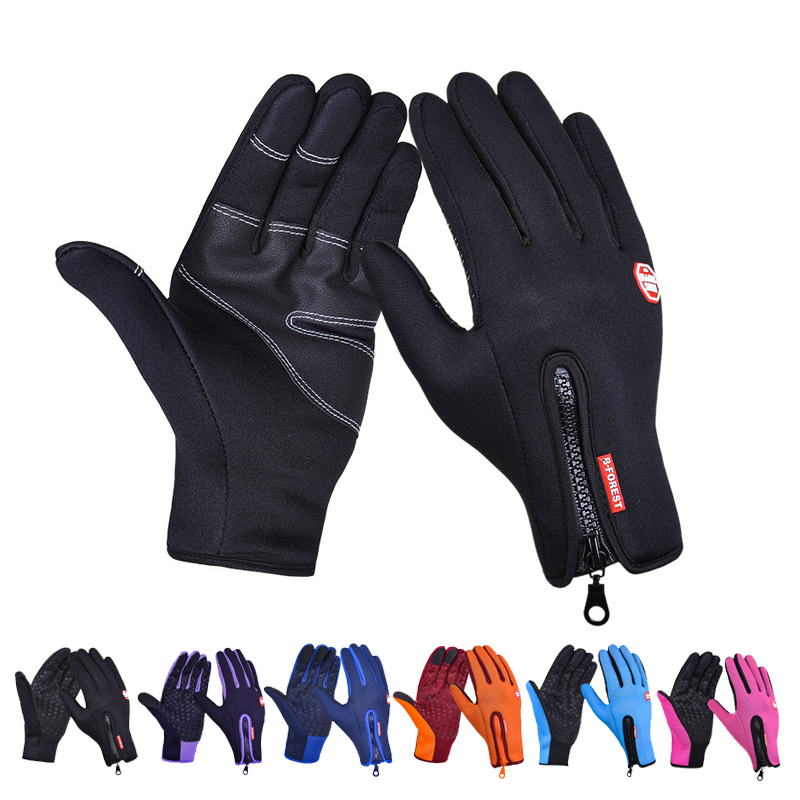 Winter Cycling gloves Three-finger touch screen Full Finger gloves Windproof Non-slip Breathable Keep warm Ski gloves Women Men racmmer cycling gloves guantes ciclismo non slip breathable mens