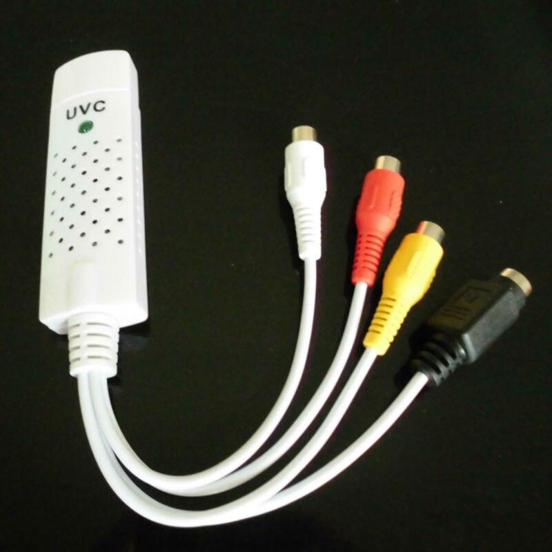 UVC USB2.0 Video capture tv tuner card con Audio TV DVD VHS Audio AV Adapter CCTV Sostegno Della Macchina Fotografica Del Computer Windows 7/8 XP