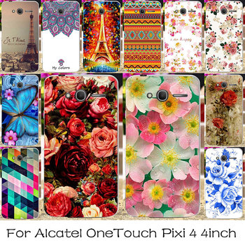 Plastic Silicone Phone Case For Alcatel OneTouch Pixi 4 4.0