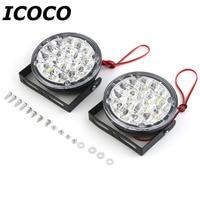 2016 New 2pcs Waterproof 12V 18 LED Round Auto Car Fog Lamp Driving Daytime Running Light