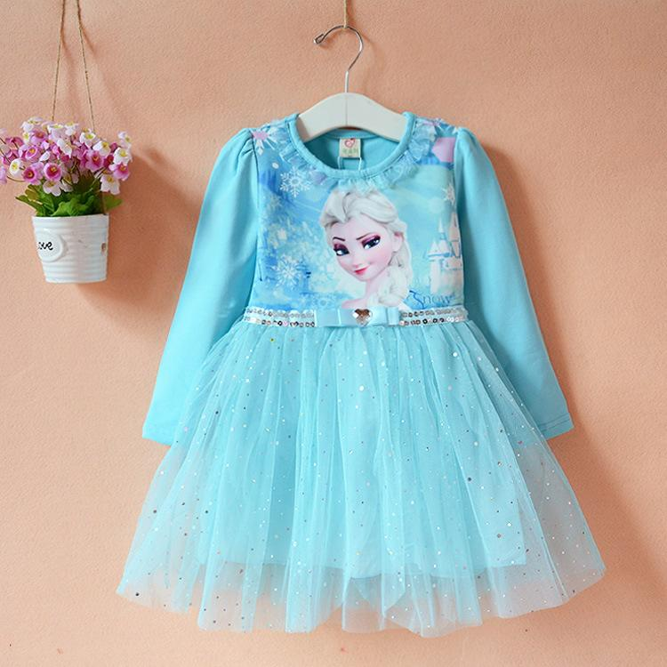 c171349cfaff2 2017 Winter New Elsa Anna Dress Princess Baby Girls Clothes Children  Clothing Cosplay Party Kids Dresses For Girl Vestidos-in Dresses from  Mother & Kids