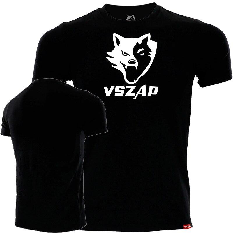 VSZAP Classic Martial Arts MMA Sport Short Sleeve T-shirt Male Buddhist Fitness Free Combat Muay Thai Thai Training BJJ Jersey