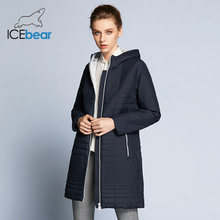 ICEbear 2019 Spring Long Cotton Women's Coats With Hood Fashion Women Padded Brand Spring Jacket Parka B17G292D(China)