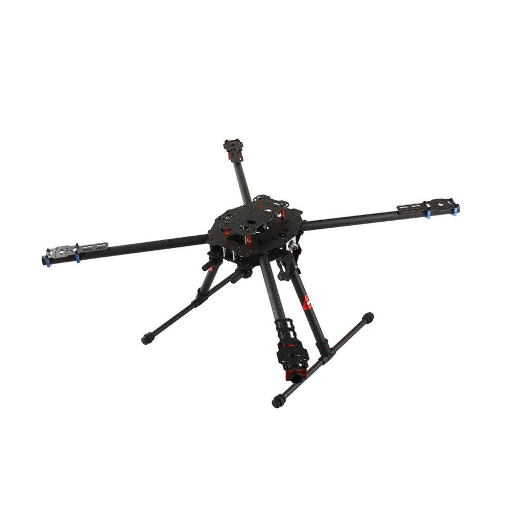 Do tarota 4 oś Iron Man 650 składany z włókna węglowego 3 K Quad Drone helikopter rama quadcoptera TL65B01 RC Quadcopter ochrona części w Części i akcesoria od Zabawki i hobby na  Grupa 1