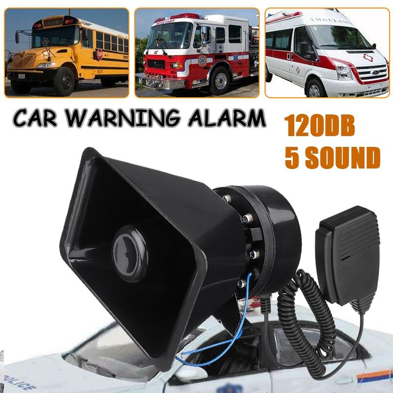 NEW 12V Speaker Super Loud Car Sound Alarm electric?motor Alarm Horn 5 Sound Loud Car Warning Alarm Adjust Volume