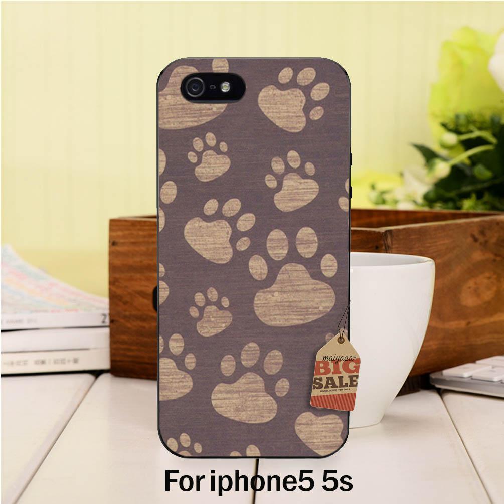 Diy pintado hermosa accesorios del teléfono para case iphone 5 5s huellas lindos