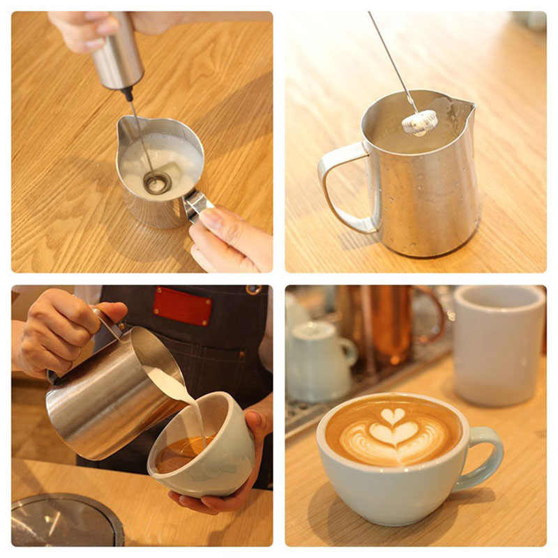 Multifunctional Milk Frother Electric Milk Frother Handheld Coffee Mixing Foamer with Single Double Head Egg Beater