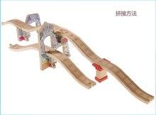 Brinquedos trem Thomas Ferroviária Pista Caverna TTC77 Viaduto Thomas E amigos Brio Do Caminhão Do Carro Brinquedos para Meninos Modelos de Construção Do Motor brinquedo
