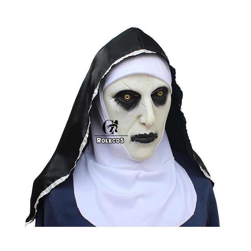 ROLECOS la nonne Cosplay masque Valak démon Nun masque d'halloween la conjuration Cosplay accessoires femmes Halloween fête hommes