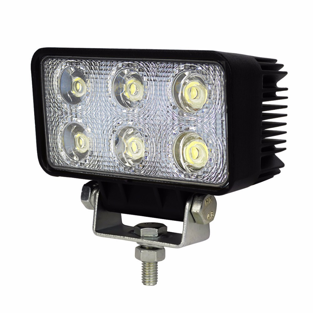 Safego 18w led work light 12v 24v spot flood Beam trucks 4x4 atv 4wd car tractor led work light offroad driving headlight fog
