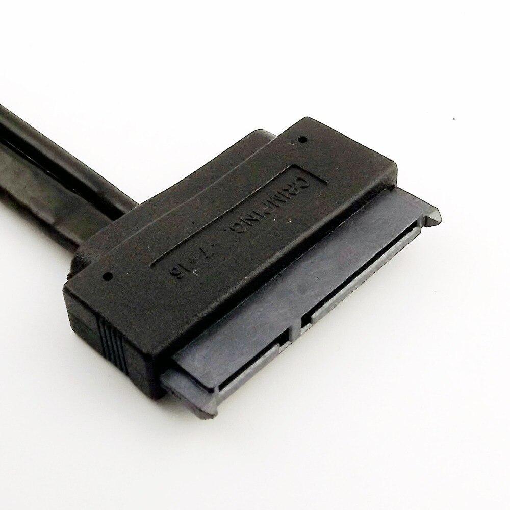 20 pièces SATA 7 + 15 broches 22 broches femelle à eSATA 7 P avec USB 2.0 A mâle alimentation Y séparateur connecteur câble cordon 50 cm