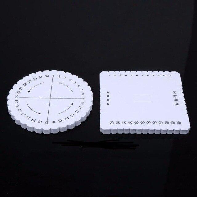 2Pcs Round Square Kumihimo Beading Cord Disc/Disk Braiding Plate DIY ...