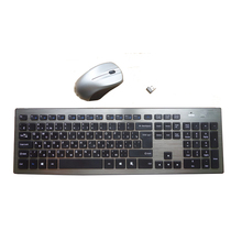 High quality Russian 2.4G Wireless keyboard mouse  combo  with  USB Receiver for Desktop,Computer PC,Laptop and Smart TV