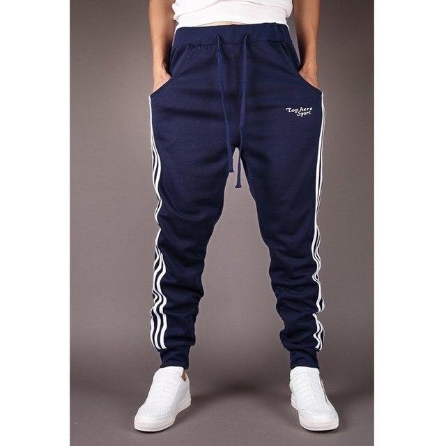 2017 Горячая Продажа мужская повседневные брюки Slim Fit брюки удобные дикие брюки коллапс моды для мужчин Спортивные Штаны Бегунов Брюки