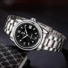 Nova Marca De Relógios de Luxo Homens Mecânico Automático do Relógio de Aço Completa Negócios WEISIKAI zegarki Data Relógios dos homens do Relógio à prova d' água