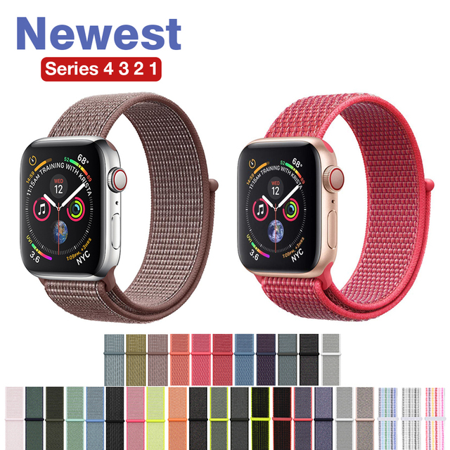 16322a36a2d Yolovie Sport Loop for Apple Watch Band Nylon 38mm 40mm 42mm 44mm Woven  Strap Bracelet Belt Wrist bands for iWatch Series 4 3 21