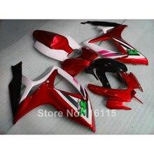 Injection mold fairing kit for SUZUKI GSXR 600 750 K6 K7 2006 2007 motorcycle part GSXR600 GSXR750 06 07 red white black fairing