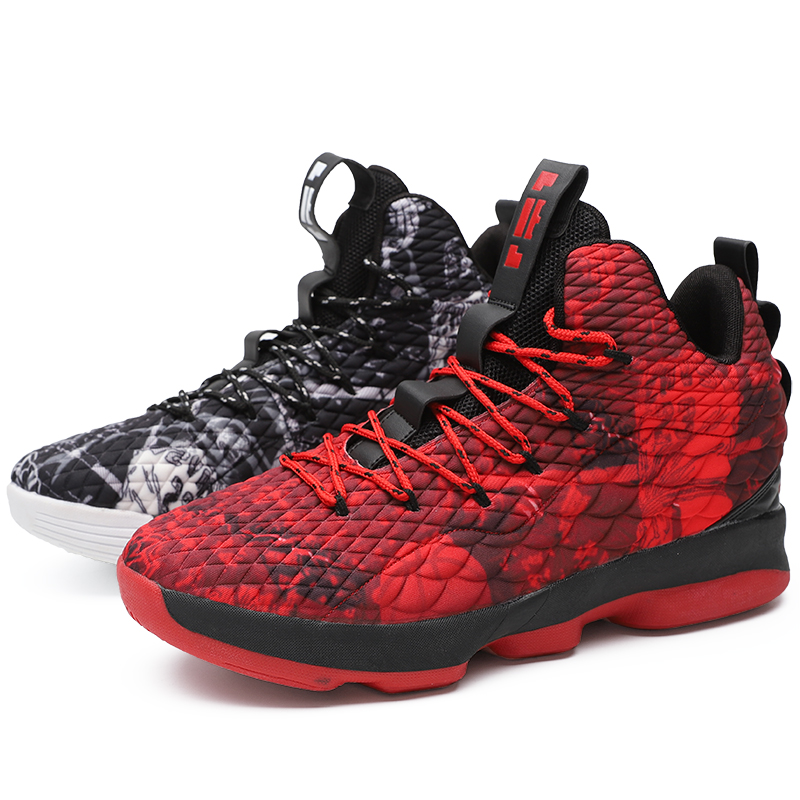 2019 Man Basketball Shoes Anti slip Basketball Sneakers Men Lace up Sports Gym Ankle Boots Shoes Basket Homme Big Size 45 in Basketball Shoes from Sports Entertainment