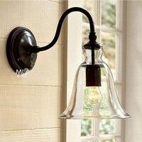 Freies verschiffen Führte kristall glocke amerikanischen stil glas wandleuchte beleuchtung schlafzimmer wandleuchten esszimmer wandleuchten-in LED-Innenwandleuchten aus Licht & Beleuchtung bei