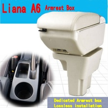 For Suzuki Liana A6 armrest box central Store content box with cup holder ashtray decoration products With USB interface