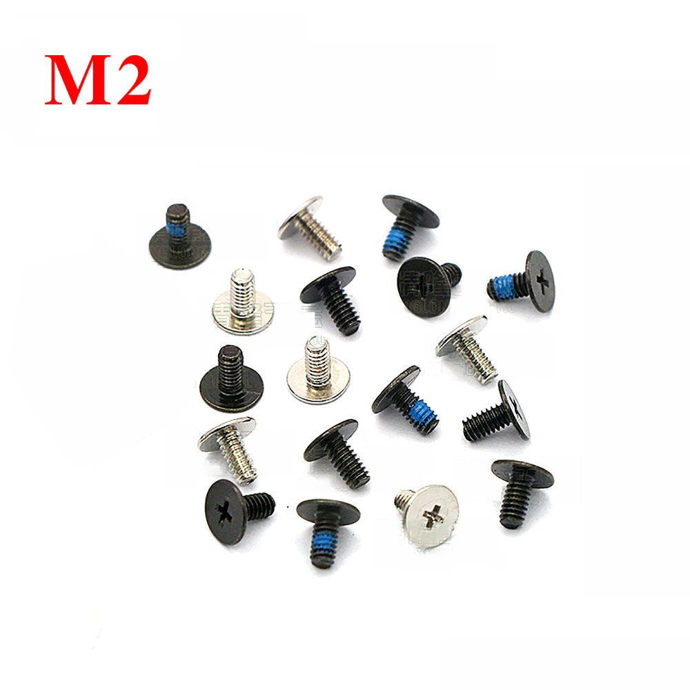 M1.7*3~12 Ni-Plated Phillips Flat Head Laptop Computers Phone Machine Screw Kit