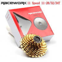 11 Speed Cassette Road Bike 28T 32T 34T Bicycle Gold Cassette for Shimano 105 6800 R7000 R8000