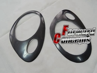 FOR CARBON FIBER 2005 2008 BOXSTER / CAYMAN 987 HEADLIGHT COVERS EYELIDS EYEBROWS