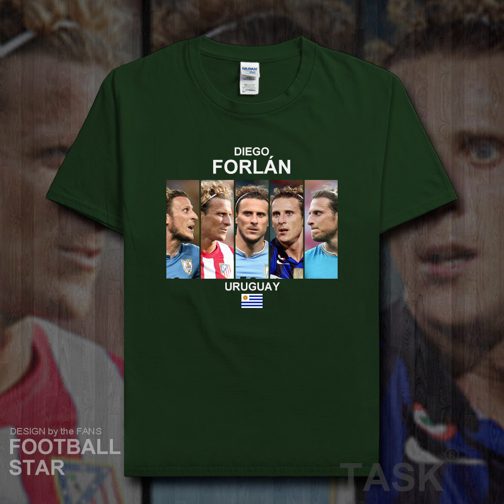 f0a3b597517b0a Diego Forlan t shirt men jerseys Uruguay footballer star tshirt cotton  fitness t-shirt summer