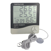 Weather Station HTC 2 Indoor Outdoor Thermometer Hygrometer font b Digital b font LCD C F