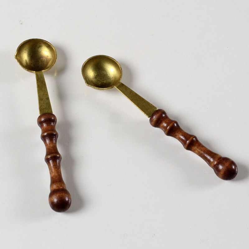 2 pcs/lot vintage wooden handle wax spoon stamp sealing wax spoon anti hot wax spoon gift environment friendly long handle a soup spoon