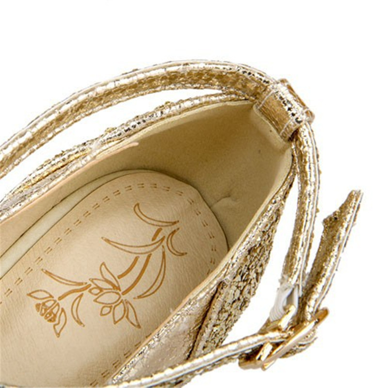 Heels Schwarzes Neue Enmayer Kappe weiß silber Plattform Pumpt Runde gold Dünne Pumpen High Stil Frauen Hochzeit Schuhe Knöchel Mode Riemen 8awSxagdq