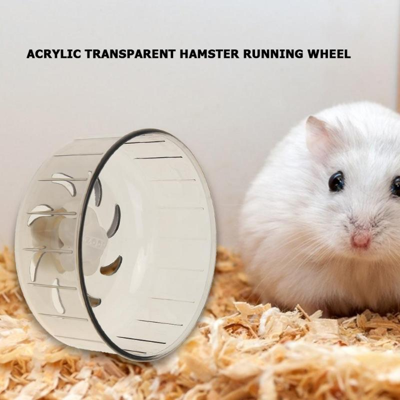 Transparent Hamster Wheel Running Treadmill Silent Small Pet Running Wheels Small Pets Supplies Exercise Toy Running Spinner
