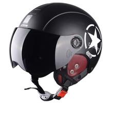 Motorcycle Helmet Half Open Face scooter halmet motocross vintage casq