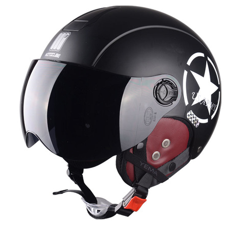 Motorcycle Helmet Half Open Face scooter halmet motocross vintage casque Adjustable Size Protection Gear Head Helmets 54cm-61cm Pakistan