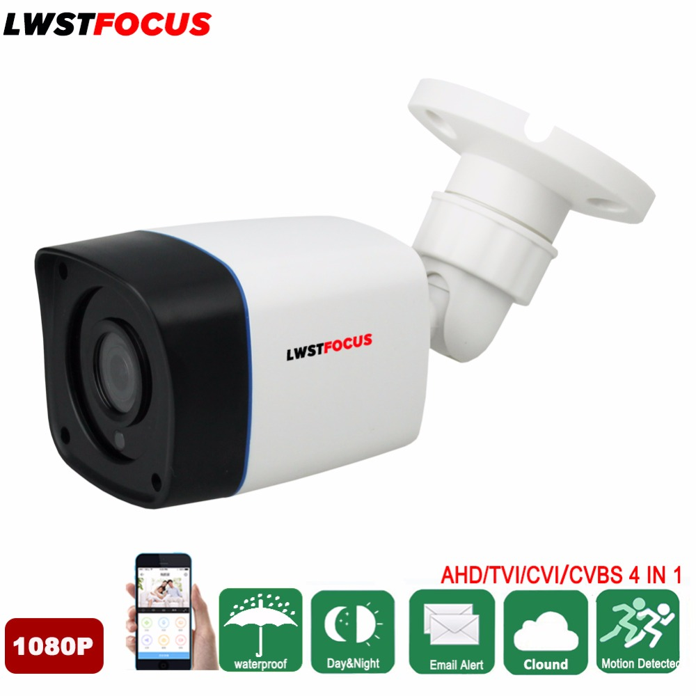 HD 1080P AHD/TVI/CVI/ 4 IN 1 Security Camera Outdoor Waterproof Infrared Night Vision Plastic Bullet CCTV Analog Surveillance ahd 720p 960p 1080p hd cctv camera security surveillance outdoor waterproof ip66 infrared night vision color 2 0mp home video